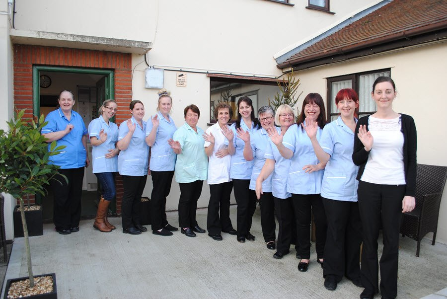 Staff at Culrose House Residential Care Home