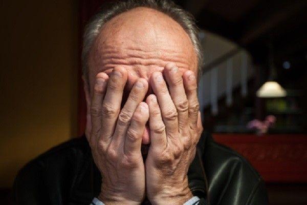 Depression. Elderly man